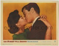 4p106 BOMBERS B-52 LC #2 1957 romantic c/u of Natalie Wood kissing Zimbalist, No Sleep Till Dawn!