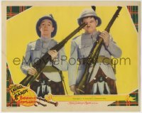 4p107 BONNIE SCOTLAND LC 1935 wacky Stan Laurel pokes Oliver Hardy's eye with his rifle, rare!