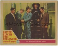 4p113 BOSTON BLACKIE GOES HOLLYWOOD LC 1942 detective Chester Morris pointing gun at bad guys!