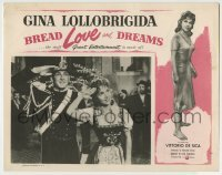 4p116 BREAD, LOVE & DREAMS LC 1954 close up of sexy Gina Lollobrigida & soldier saluting!