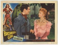 4p121 BUCCANEER'S GIRL LC #5 1950 great close up of Andrea King staring at Philip Friend!