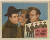 4p122 BUCK PRIVATES LC R1948 best c/u of sexy Jane Frazee between Bud Abbott & Lou Costello!