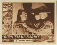 4p124 BURN 'EM UP BARNES chapter 9 LC 1935 Frank Darro & race cars in border, The Man Higher Up!