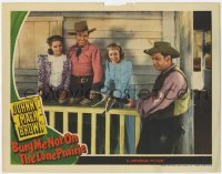 4p125 BURY ME NOT ON THE LONE PRAIRIE LC 1940 Johnny Mack Brown, Fuzzy Knight, Adams & Nell O'Day!