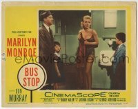 4p126 BUS STOP LC #4 1956 sexy showgirl Marilyn Monroe in skimpy outfit scares family in bathroom!