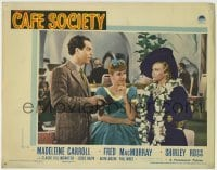 4p128 CAFE SOCIETY LC 1939 c/u of Shirley Ross between Madeleine Carroll & Fred MacMurray!