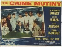 4p129 CAINE MUTINY LC 1954 classic scene of Humphrey Bogart proving the strawberries were stolen!