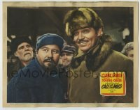4p132 CALL OF THE WILD LC R1943 great close up of Clark Gable & Jack Oakie in Jack London story!