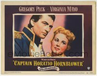 4p136 CAPTAIN HORATIO HORNBLOWER LC #1 1951 wonderful c/u of Gregory Peck & pretty Virginia Mayo!