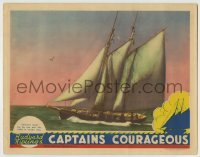 4p139 CAPTAINS COURAGEOUS LC 1937 Victor Fleming adventure classic, cool full-length ship image!