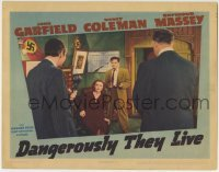 4p207 DANGEROUSLY THEY LIVE LC 1942 Nancy Coleman & John Garfield with guns are cornered by Nazis!