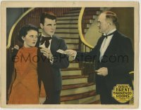 4p213 DARKENED ROOMS LC 1929 man in tuxedo hands cash to Neil Hamilton & pretty Evelyn Brent!