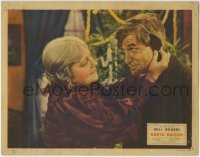 4p216 DAVID HARUM LC 1934 close up of Louise Dresser putting ear muffs on Will Rogers!