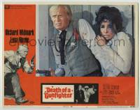 4p219 DEATH OF A GUNFIGHTER int'l LC #6 1969 close up of Richard Widmark protecting Lena Horne!