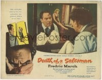 4p220 DEATH OF A SALESMAN LC 1952 Fredric March looking in mirror as he cheats on his wife!