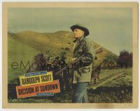 4p222 DECISION AT SUNDOWN LC #2 1957 Randolph Scott brings a new kind of adventurer to the screen!