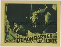 4p226 DEMON BARBER OF FLEET STREET LC 1939 Tod Slaughter as Sweeney Todd in middle of fight!