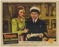4p237 DESTROYER LC 1943 Edward G. Robinson gets a letter saying they don't even want him!