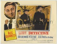 4p238 DETECTIVE LC 1954 great image of Alec Guinness as Father Brown, religious private eye!
