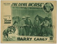 4p239 DEVIL HORSE chapter 3 LC 1932 Harry Carey captured by the bad guys, The Doom Riders!