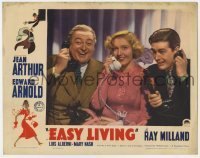 4p281 EASY LIVING LC 1937 laughing Edward Arnold, Jean Arthur & Ray Milland all holding phones!
