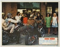 4p282 EASY RIDER color LC #5 1969 sexy girls watch Peter Fonda & Dennis Hopper on motorcycles!