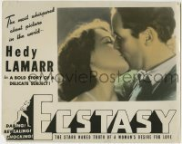 4p283 ECSTASY photolobby R1940s sexy Hedy Lamarr in a passionate kiss close up!
