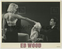 4p284 ED WOOD LC 1994 Tim Burton, sexy Patricia Arquette gives her angora sweater to Johnny Depp!