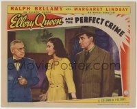 4p287 ELLERY QUEEN & THE PERFECT CRIME LC 1941 Ralph Bellamy behind pretty Margaret Lindsay!