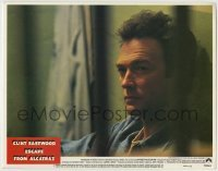 4p292 ESCAPE FROM ALCATRAZ LC #1 1979 best close up of Clint Eastwood in his prison cell!