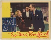 4p298 EX-MRS. BRADFORD LC 1936 close up of pretty Jean Arthur laughing at angry William Powell!