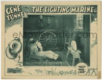 4p306 FIGHTING MARINE chapter 7 LC 1926 bad guy leaves Gene Tunney tied up in a shack!
