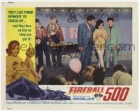 4p308 FIREBALL 500 int'l LC 1966 Frankie Avalon & sexy Annette Funicello on stage, car racing!