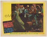 4p313 FLAMING STAR LC #8 1960 Elvis Presley plays the guitar as cast dances to his music!
