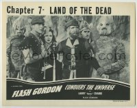 4p314 FLASH GORDON CONQUERS THE UNIVERSE chapter 7 LC R1940s Crabbe, Hughes, Shannon & rock people!