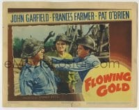 4p316 FLOWING GOLD LC 1940 great image of John Garfield attacking Pat O'Brien with wrench!