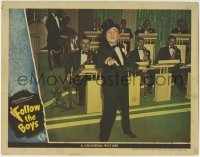 4p319 FOLLOW THE BOYS LC 1944 great close up of Ted Lewis performing in tuxedo & top hat by band!