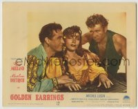 4p362 GOLDEN EARRINGS LC #7 1947 sexy gypsy Marlene Dietrich has Ray Milland under her spell!