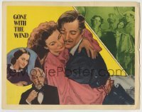 4p363 GONE WITH THE WIND LC #4 R1947 art of Clark Gable, Vivien Leigh & Olivia De Havilland!