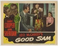 4p364 GOOD SAM LC #8 1948 Ray Collins holding dress between Gary Cooper & sexy Ann Sheridan!