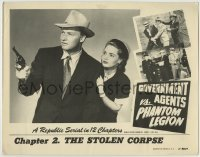 4p367 GOVERNMENT AGENTS VS. PHANTOM LEGION chapter 2 LC 1951 Republic serial, The Stolen Corpse!