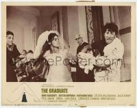 4p368 GRADUATE Embassy pre-awards LC #5 1968 Dustin Hoffman grabs Ross from Bancroft at wedding!