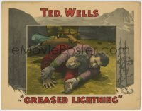 4p371 GREASED LIGHTNING LC 1928 cowboy Ted Wells in death struggle on the ground!
