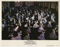 4p376 GREAT WALTZ LC #1 1972 great far shot of many couples dancing in formal ballroom!