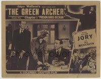 4p378 GREEN ARCHER chapter 1 LC 1940 Victor Jory, Edgar Wallace serial, Prison Bars Beckon!