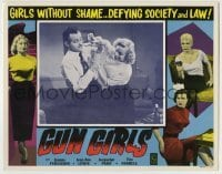 4p381 GUN GIRLS LC 1957 sexy bad girls without shame defying society and law on the loose!