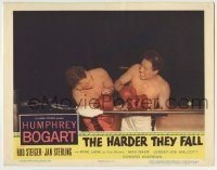 4p390 HARDER THEY FALL LC 1956 Mike Lane as boxer Toro Moreno getting beaten to a pulp in the ring!
