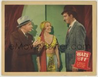 4p392 HATS OFF LC 1936 sexy Mae Clarke in skimpy outfit between Skeets Gallagher & John Payne!