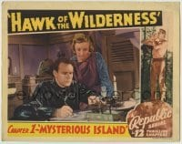 4p394 HAWK OF THE WILDERNESS chapter 1 LC 1938 Mysterious Island, border image of Bruce Bennett as Brix!