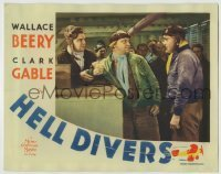 4p400 HELL DIVERS LC 1932 Cliff Edwards restrains Wallace Beery from punching angry Clark Gable!